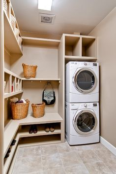 Stacked Washer And Dryer Small Room Closet Design, Pictures, Remodel, Decor and Ideas - page 6