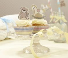 Rocking Horse Cupcake Cases and Toppers - Rock a Bye Baby