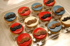 mustache cupcakes We have to have these! Mustache Cupcakes, Fun Cupcakes, Cupcake Cakes, Mustache Theme, Cake Decorating Tips, Food Humor, Celebration Cakes, Food Design, Sweet Treats