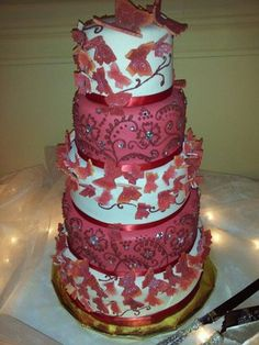 Butterfly Wedding Cake from Syracuse Cake Art. Edible Butterflies ...