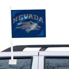 Nevada Wolf Pack Car Flag - Navy Blue