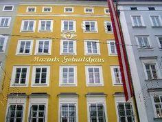 Mozart's childhood home; Salzburg, Austria
