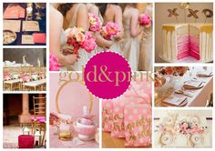 Gold & pink Boards, Pink, Gold, Planks, Roses