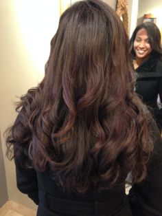 Keratin Treatment with Long Extensions