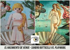37 Obras de Arte Clasicas hechas con Playmobil / 37 Classical Artworks remakes with Playmobil Steampunk, Star Wars Personajes, The Birth Of Venus, Photoshop, Sandro, Princess Zelda, Painting, Weird Things, Memes
