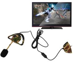 Hot New Wired Camo Headset Mic Earpiece Earphone For XBOX 360 Console Gaming Wholesale