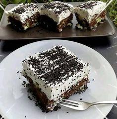 Greek Desserts, Cold Desserts, Greek Recipes, Cookbook Recipes, Cake Recipes, Dessert Recipes, Cooking Recipes, Sweet Cooking, Nutella