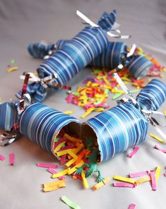 Kids will get a bang out of opening New Year's Poppers. Super easy to make, they're from Repeat Crafter Me.