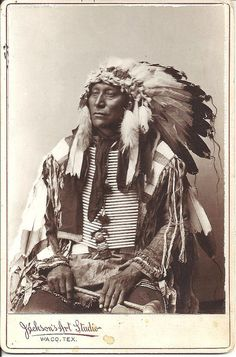 Another Chief | Cabinet card of an Indian Chief, by Jackson'… | Flickr