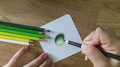 How to draw a gemstone - Edelstein zeichnen mit Buntstift (grün)