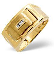 The Diamond Store.co.uk Onyx and 0.03CT Diamond Ring 9K Yellow Gold Onyx amp