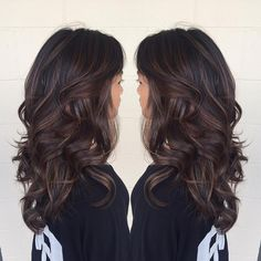 Long Chocolate Balayage Hair