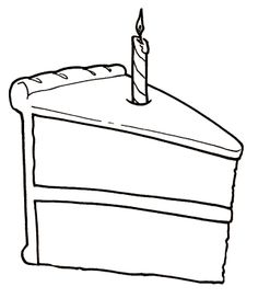 slice of cake coloring page - 1000 images about feest on pinterest ballon helium met