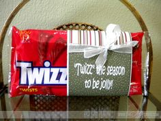 """Twizz"" the season to be sweeter! Easy and cute #Christmas treat idea."