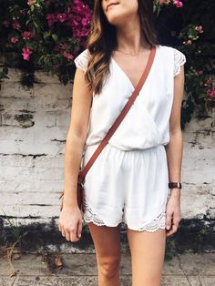 Little White Romper | Girl Meets Gold Vacation Style