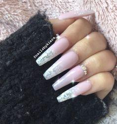 #nails #nailsofinstagram #nailart #acrylicnails #ombrenails #pinknail #nailideas #girlynails #nailinspiration Pink Nails, My Nails, Nailart, Engagement Rings, Beauty, Jewelry, Enagement Rings, Wedding Rings, Jewlery