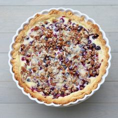 The Sweets Life: Blueberries and Cream Pie