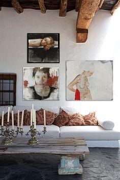 Toiles de Massimo Lagrotteria