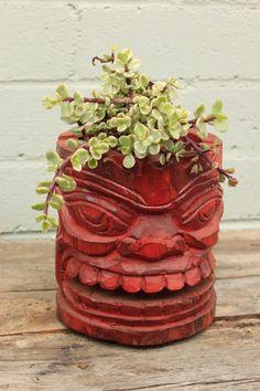 Vintage Tiki Hawaiian Ashtray, Planter via Etsy