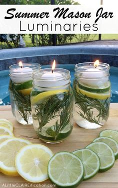 Summer Mason Jar Luminaries Summer Mason Jar Luminaries - These are not only easy and beautiful they are also a chemical free DIY Bug Repellent! Mason Jar Luminaries - These are not only easy and beautiful they are also a chemical free DIY Bug Repellent! Pot Mason Diy, Mason Jars, Mason Jar Crafts, Candle Jars, Jelly Jar Crafts, Mason Jar Herbs, Keep Bugs Away, Citronella Candles, Citronella Plant