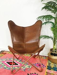 *BRAND NEW* BUTTERFLY CHAIR GENUINE LEATHER MID TAN | Armchairs | Gumtree Australia Stonnington Area - South Yarra | 1116307499
