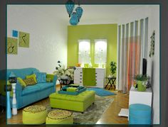 """Living Room   """"colors and Moroccan"""""""