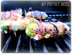 Texas Rockets... Grilled bacon wrapped jalapenos stuffed with chicken and cream cheese