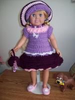 "A Day at the opera - 18"" doll image intense - Free Original Patterns - Crochetville"