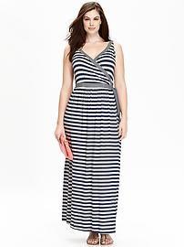 Women's Plus Cross-Front Maxi Dresses