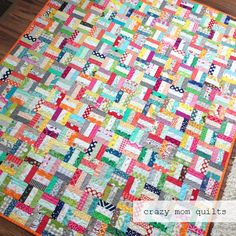 crazy mom quilts: crazy rails-a completed quilt
