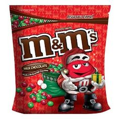 M&m's Milk Chocolate Holiday Christmas Mix Candy 3.5 Pound Bag 56 Oz