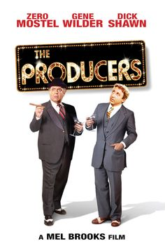 The Producers Movie Poster - Zero Mostel, Gene Wilder  #TheProducers, #ZeroMostel, #GeneWilder, #MelBrooks, #Comedy, #Art, #Film, #Movie, #Poster