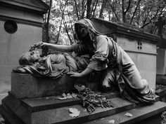 Perpetual Mourning at Pere Lachaise Cemetery - Paris, France