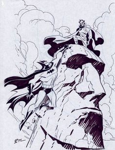 Batman vs Ra's al Ghul by Bruce Timm