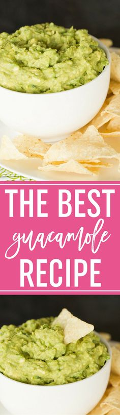 The Best Homemade Guacamole Recipe :: Easy to make and absolutely the best! A must for any party and especially for game days and the Super Bowl! #appetizer #dip #guac #avocados #mexican #cincodemayo #recipe #easy #superbowl via @browneyedbaker