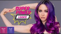 I am soooo excited for the Super Power Direct Dye Colors. Here's a mix of Purple Raven and Magenta Magic on my model Marie. Deep Red Hair Color, Dark Purple Hair, Color Your Hair, Ombre Hair Color, Hair Color Balayage, Cool Hair Color, Dark Hair, Lilac Hair, Blue Hair