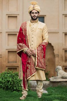 Explore the top line collection by Manyavar including Dhoti, Kurtas, Wedding Dresses, Sangeet Wear, Suit & Indian ethnic wear for men. Get best deal on mens traditional outfits only at Manyavar Sherwani For Men Wedding, Wedding Dresses Men Indian, Sherwani Groom, Wedding Dress Men, Wedding Men, Wedding Suits, Pre Wedding Poses, Wedding Couple Poses, Angrakha Style