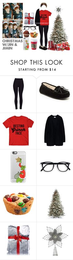 """This Christmas"" by kookieforever97 ❤ liked on Polyvore featuring Minnetonka, Acne Studios, Casetify, Frontgate, Christmas, bts, bangtan and bangtansonyeondan"