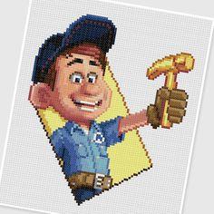 PDF Cross Stitch pattern 0013.Felix Wreck It Ralph by PIXcross