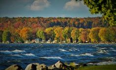 WSYR: Autumn at Oneida Lake.  Please consider for POTD.