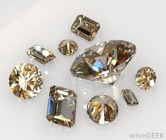 A Chocolate Diamond™ is a type of brown, fancy-colored diamond that is sold by LeVian Jewelers. The term is also used more generally to refer to any brown diamonds. These stones are very common and were largely thought to be worthless until the late 1980s, when LeVian began a marketing campaign to increase demand for them.