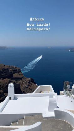 Julho/2020 Santorini, Desktop Screenshot, Photo And Video, Videos, Instagram, Drawings, Santorini Caldera