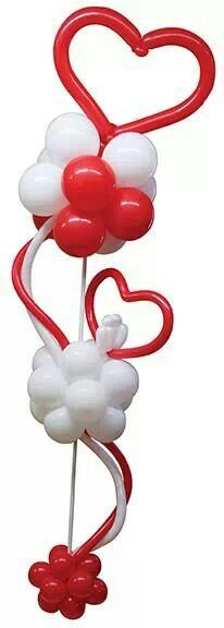 Heart Balloon and Clusters