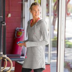 Unwind Sweatshirt Dress - The ultimate way to unwind post-anything is by slipping on this awesomely soft sweatshirt that takes comfort to new lengths.                                                                                                                                                                                 More