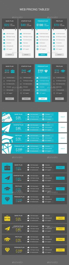 Web Pricing Tables Template PSD. Download here: http://graphicriver.net/item/web-pricing-tables/12740011?ref=ksioks