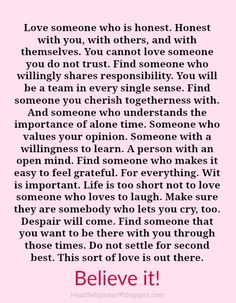 Do not settle for second best.