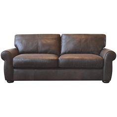 Buy John Lewis Madison Large Cushion Leather Sofa Online at johnlewis.com