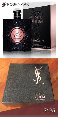 YSL Black Opium Brand new/unused in original box- authentic YSL Black Opium 3 oz bottle of perfume. This is the full size bottle. Includes large box shown in second pic! Price is FINAL. Thank you! Yves Saint Laurent Makeup