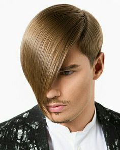 Jörn by Attila Can 2015 / men Men's Haircuts, Cool Haircuts, Haircuts For Men, Cool Hairstyles, Awesome Hair, Great Hair, Side Fringe Hairstyles, Asymmetrical Haircuts, Bob
