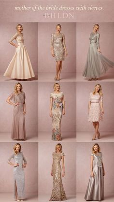 Mother of the Bride and Mother of the Groom Dresses with Sleeves from @BHLDN